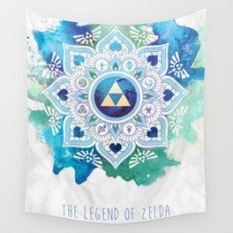 A Legendary Blue/Green Zelda Mandala Wall Tapestry