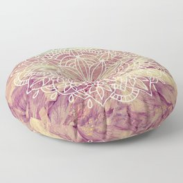 Rain Dance Desert Mandala Floor Pillow