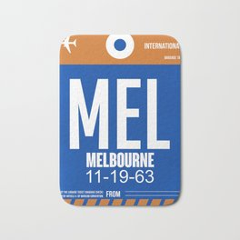 MEL Melbourne Luggage Tag 2 Bath Mat