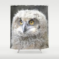 swedish Shower Curtains featuring Swedish owl by ilsephilips