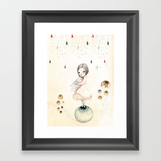 sofi and the owlo Framed Art Print