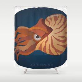 nautilus eye Shower Curtain
