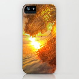 Chris Harsh Photos * Golden Wave At Dawn iPhone Case