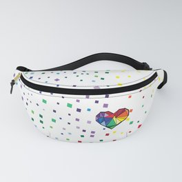 Colorful geometric heart Fanny Pack