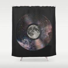 L.P. (Lunar Phonograph) Shower Curtain