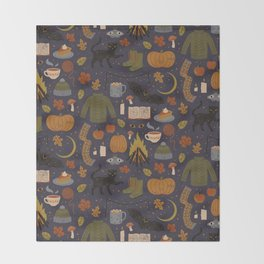 Autumn Nights Throw Blanket