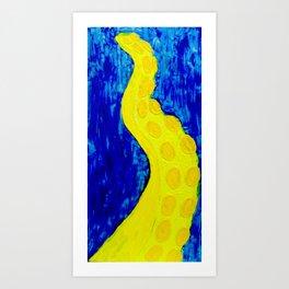 Yellow Tentacle Art Print