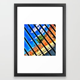FREE ON THE OTHER SIDE Framed Art Print