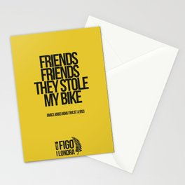 AMICI AMICI M'HANN ARROBAT A BICI Stationery Cards