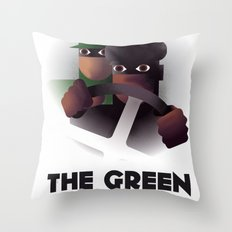 Cassandre Spirit - The green hornet Throw Pillow