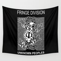 joy division Wall Tapestries featuring Fringe Division by Ant Atomic