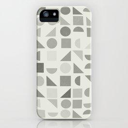 Greyscale Shapes iPhone Case