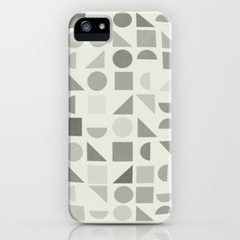 Greyscale Shapes iPhone Case