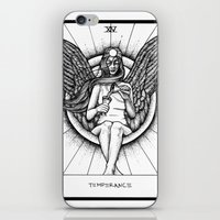 tarot iPhone & iPod Skins featuring Temperance Tarot by Corinne Elyse