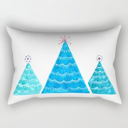 Blue Christmas trees Rectangular Pillow
