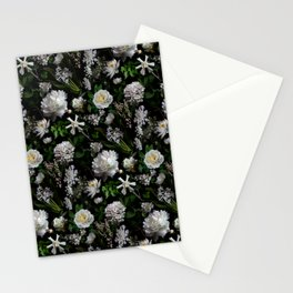 Midnight Garden Moody Florals  Stationery Cards