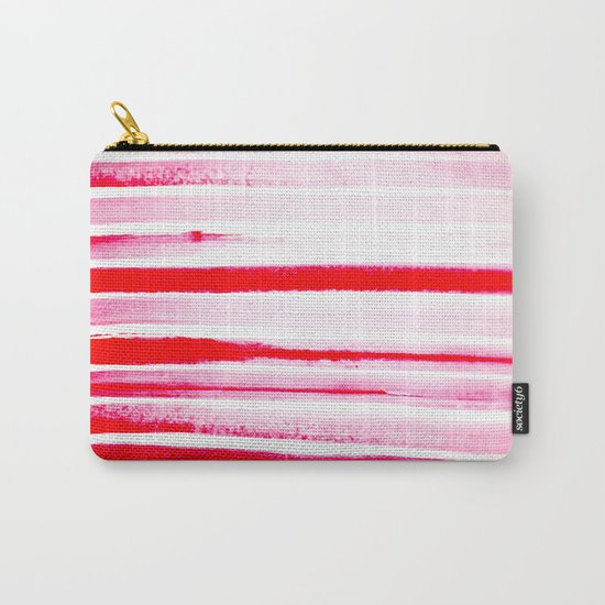 Christmas Candy Cane Red Stripe Carry-All Pouch