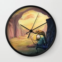 Scared Little Creature Wall Clock