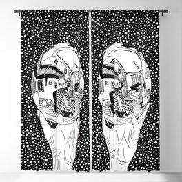 Escher - Self-portrait on a sphere Blackout Curtain