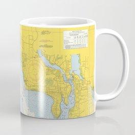 Vintage Providence River & Narragansett Bay Map Coffee Mug