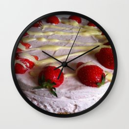 Sumptuous Strawberry Sweet Wall Clock