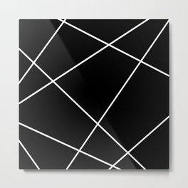 Geometric abstract - black and white. Metal Print