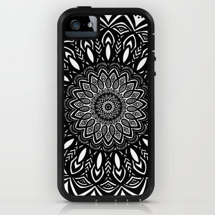 Bold Mandala Black and White Simple Minimal Minimalistic iPhone Case