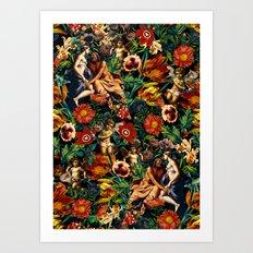 HERA and ZEUS Garden Art Print