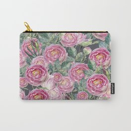 Vintage Roses Grey Carry-All Pouch