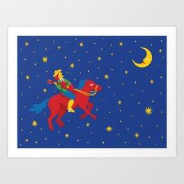 Cosmic Cowgirl Art Print