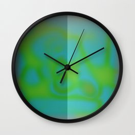 Yellow Color Leak Wall Clock