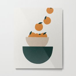 Abstract kitchen oranges in bowl Metal Print