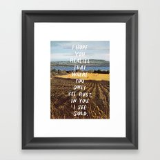 gold haiku Framed Art Print