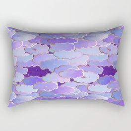 Japanese Clouds, Twilight, Violet and Deep Purple Rectangular Pillow