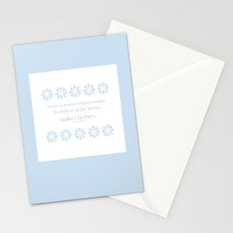 Nurture Your Mind with Great Thoughts Stationery Cards