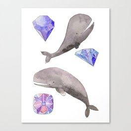 Whales and diamonds Canvas Print