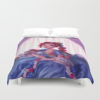lady Duvet Covers featuring Lady by Miss Holly