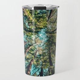 Treetop green blue Travel Mug