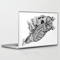 bioworkz Laptop & iPad Skins featuring Great Horned Skull by BIOWORKZ