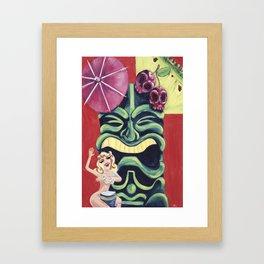 Tiki Mai Tai Framed Art Print