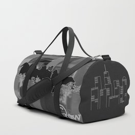 crows lunch atop Duffle Bag