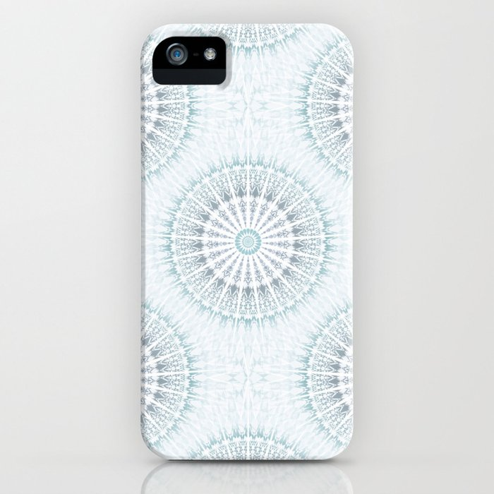 Teal Aqua Mandala iPhone Case