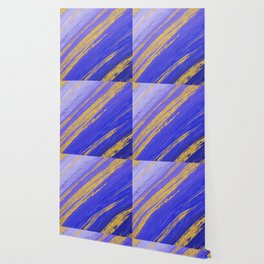 Colored Brush with Gold Foil 10 Wallpaper