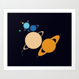 Solar System Unicorn Art Print