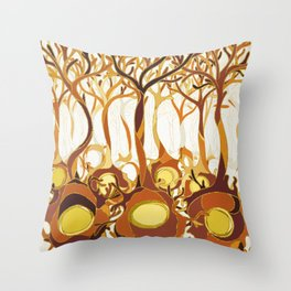 Neuronal Forest Throw Pillow