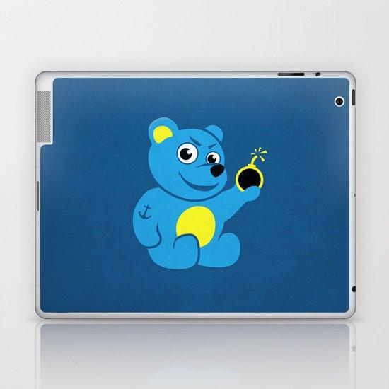 Evil Tattooed Teddy Bear Laptop & iPad Skin