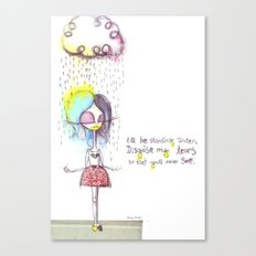Rain on me... Canvas Print