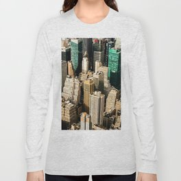 New York City Aerial View (Color) Long Sleeve T-shirt