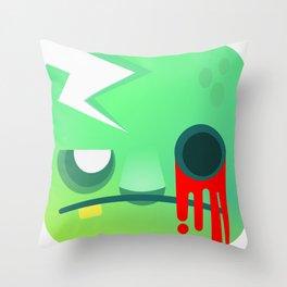 Zombie cube Throw Pillow