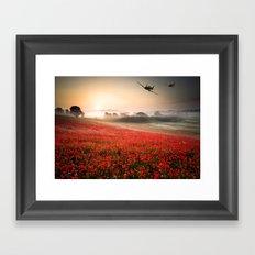 Poppy Spitfire Framed Art Print